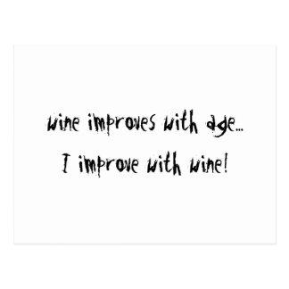 El vino mejora con edad postal