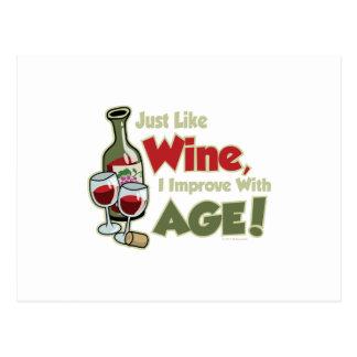 El vino mejora con edad tarjetas postales
