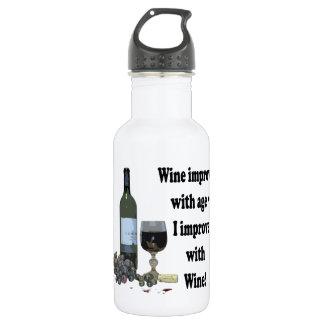 ¡El vino mejora con edad, yo mejora con el vino!