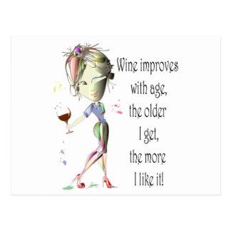 El vino mejora con la edad regalos chistosos del postales