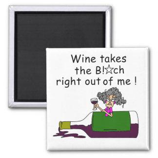 El vino Mellows me Imán Cuadrado