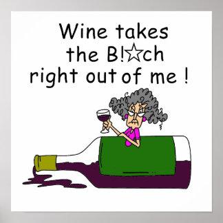 El vino Mellows me Póster
