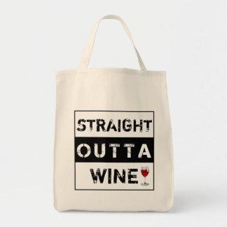 El vino recto de Outta o modifica su propio texto Bolsa Tela Para La Compra