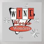 El vino rojo y negro retro trabaja arte de la pare posters