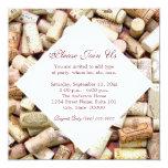 El vino tapa invitaciones con corcho invitación personalizada