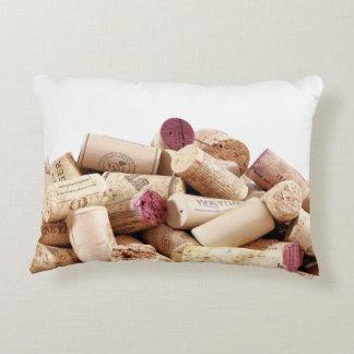 El vino tapa la almohada del acento con corcho cojín