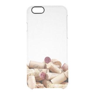 El vino tapa la caja clara del iPhone con corcho 6 Funda Clear Para iPhone 6/6S