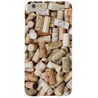 El vino tapa la caja más del iPhone con corcho 6 Funda De iPhone 6 Plus Barely There
