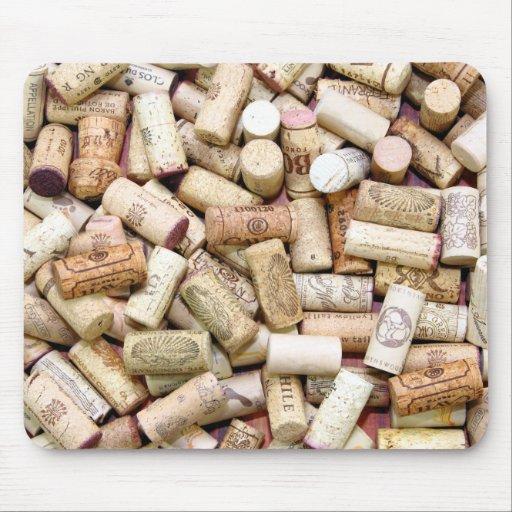 El vino tapa Mousepad con corcho Tapete De Ratones