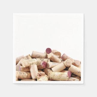 El vino tapa servilletas con corcho servilleta desechable