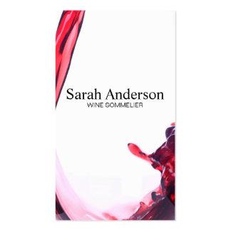 El vino vierte el chapoteo II del | Tarjetas De Visita
