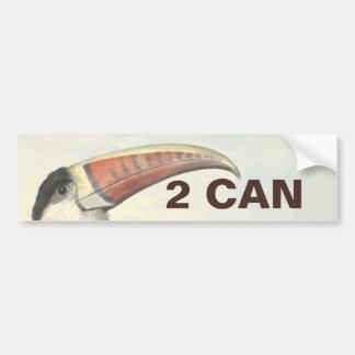 El vintage 2 de Toucan del americano de Etiqueta De Parachoque