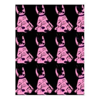 El vintage 50s rosado Ser-bop postal del vestido