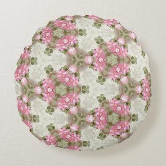 El vintage abstracto floral inspiró el modelo cojín redondo