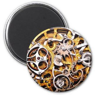 El vintage adapta el reloj de reloj punky del vapo imán redondo 5 cm