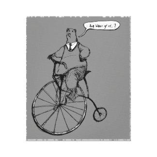 El vintage adecuado refiere la bicicleta del impresiones en lienzo estiradas