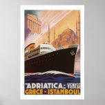 El vintage Adriatica alinea el poster