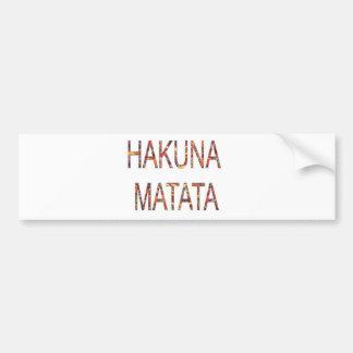 El vintage africano colorea Hakuna Matata.jpg Pegatina Para Auto