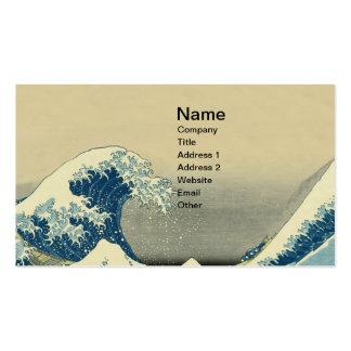 El vintage agita el barco de mar del océano tarjetas de visita