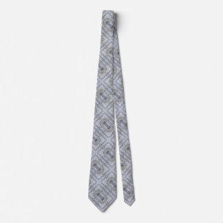 El vintage aherrumbró modelo del caleidoscopio de corbata