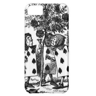 El vintage Alicia en Wonderalnd carda rosas de la  Funda Para iPhone 5C