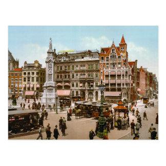 El vintage Amsterdam, tranvías en los Dom Plat Tarjetas Postales