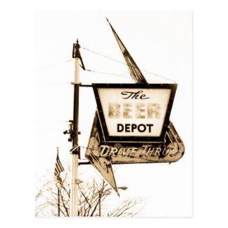 El vintage Ann Arbor, Michigan del depósito de la Tarjetas Postales