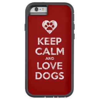 El vintage apenado guarda calma y ama perros funda para  iPhone 6 tough xtreme