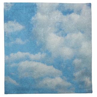El vintage apenado se nubla el fondo servilletas