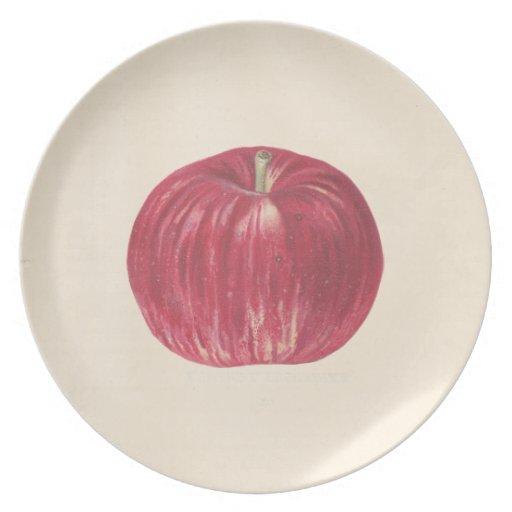 El vintage Apple platea Platos De Comidas