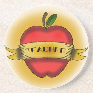El vintage Apple tatúa el práctico de costa del pr Posavasos Para Bebidas