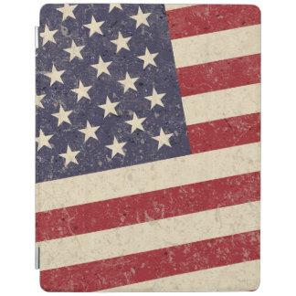 El vintage bandera americana Bbq del 4 de julio se Cover De iPad