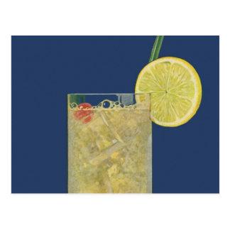 El vintage bebe las bebidas limonada o soda de la  postales