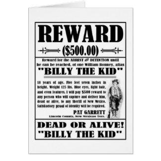El vintage Billy el niño quiso el poster Felicitacion