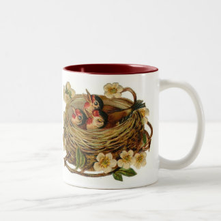 El vintage birdnest la taza