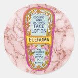 El vintage Bueroma hace frente a la etiqueta de la