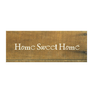 El vintage casero dulce casero inspiró la muestra impresión en lienzo estirada