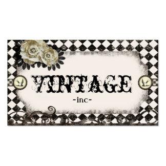 El vintage clásico inspiró tarjetas de visita