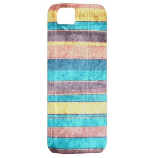El vintage colorea la pared de las rayas del grung iPhone 5 Case-Mate coberturas