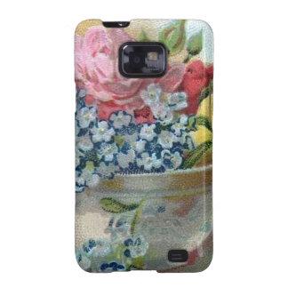 El vintage colorido floral me olvida no caso de samsung galaxy SII carcasa