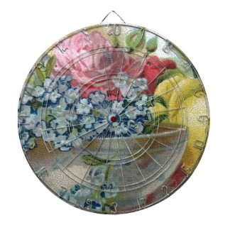 El vintage colorido floral me olvida no Dartboard