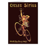 El vintage completa un ciclo el poster de la bicic tarjeton