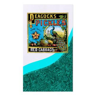 El vintage conserva en vinagre la tarjeta de visit tarjeta personal