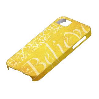 El vintage cree la cubierta amarilla del iPhone 5  iPhone 5 Case-Mate Protectores