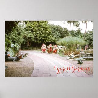 El vintage Cypress 1973 cultiva un huerto parque Impresiones
