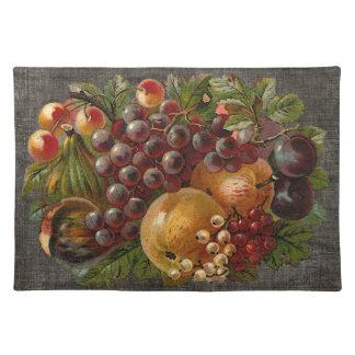 El vintage da fruto cosecha Placemat de la acción  Mantel Individual