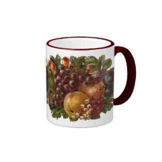 El vintage da fruto taza de la cosecha de la