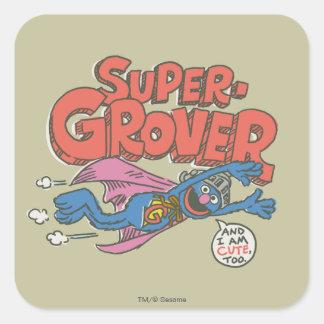 El vintage de Grover embroma 1 Pegatina Cuadrada