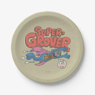 El vintage de Grover embroma 1 Platos De Papel