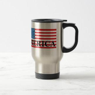 El vintage de la bandera de MERICA LOS E E U U a Taza De Café